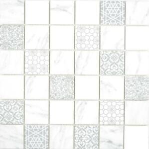 Mosaico-in-vetro-Eco-Carrara-Muro-Pavimento-Cucina-doccia-piastrelle-specchio-16-0202-Tappetini-10