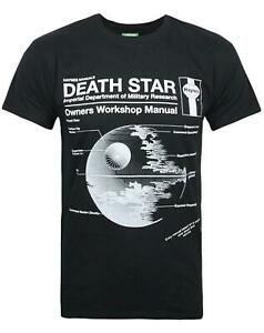 Haynes-Manual-Star-Wars-Death-Star-Men-039-s-T-Shirt