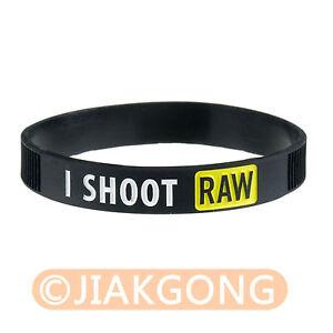Image Is Loading I Shoot Raw Photography Yellow Silicone Bracelet Photographer