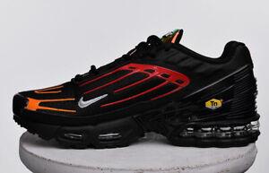 Détails sur Nike Air Max Plus 3 Homme Noir Orange Gris Chaussure Sneaker Baskets Taille UK 6 12 afficher le titre d'origine