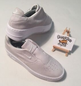 Womens Nike Air Force Laceless White