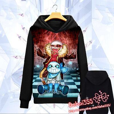 Game Undertale Sans Chara Unisex Coat Hoodie Sweater Sweatshirt Cosplay #HKI466