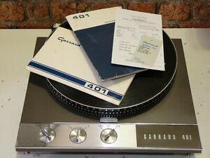 Garrard 401 Vintage Hi Fi trennt verwendet Record Vinyl Deck Player Plattenspieler