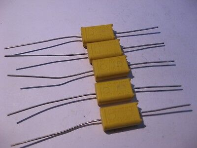 Nichicon Japan Film Capacitor Orange .12uF 10/% 250VDC 0.12 NOS Qty 10