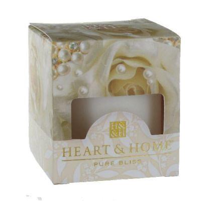 Pearl Bouquet Nozze Favore Cero Candela Heart & Home Bianco 15hr Bruciare- Grande Assortimento