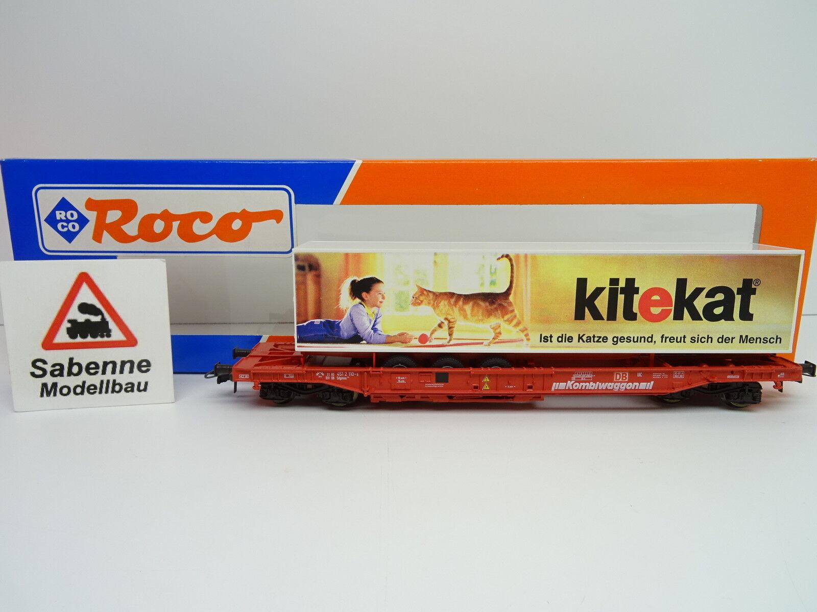 ROCO H0 47017 Einheitstaschenwagen DB  kitekat  OVP M1014  | Professionelles Design