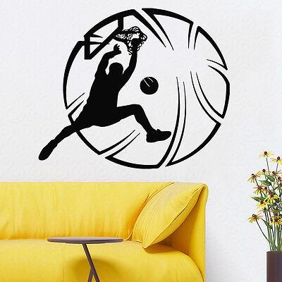 Wall Decals Sport Basketball Player Vinyl Sticker Art Mural Boy Room Decor KG67