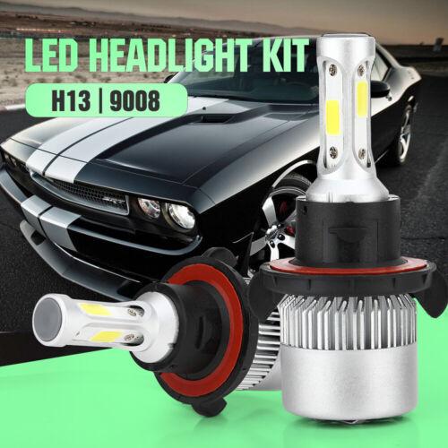 1Pair LED Headlight Kit H13 9008 High /& Low Bulbs for Dodge Challenger 2009-2014