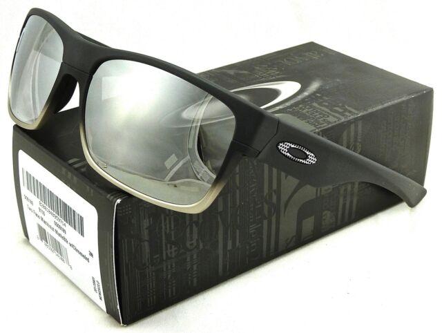 Oakley Sunglasses Two Face Machinist Oo9189 Matte Black   Chrome Iridium 1365eff3e4
