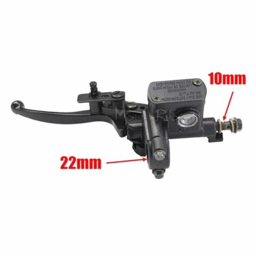10mm Front Left Hand Master cylinder Brake Lever for 125cc quad Dirt Pit Bike