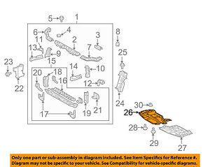 toyota scion tc engine diagram download wiring diagramscion toyota oem tc under radiator engine cover splash shield right