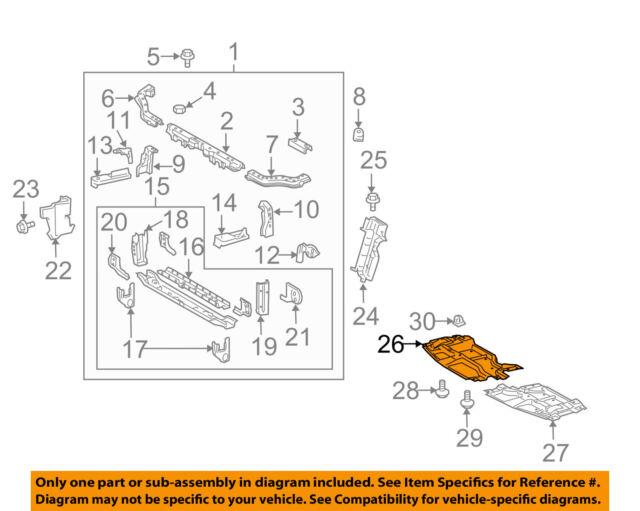 GENUINE SCION 05-10 tC OEM ENGINE UNDER COVER SPLASH SHIELD 51441-21030 RH