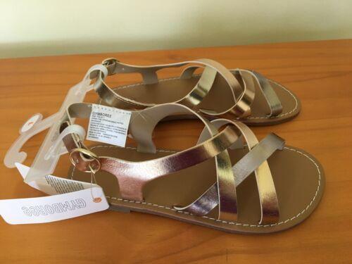 NWT Gymboree Girls Sandals shoes Metallic Rose Gold Many Sizes