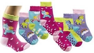 günstige Preise erstklassiges echtes elegantes Aussehen Details zu Babysocken ABS Stoppersocken Einhorn Motiv Socken mit  rutschfester Sohle 6 Paar