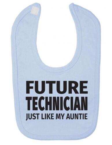 Future Technician Just Like My Auntie Cute Newborn Toddler Baby Bib