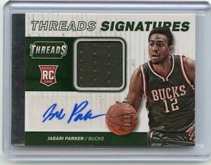 2014-15 THREADS #2 JABARI PARKER AUTOGRAPH JERSEY ROOKIE CARD RC #89/149, BUCKS