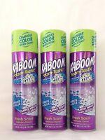 3 Kaboom Bathroom Cleaner Foam-tastic Oxy Clean Stain Fighters Freshscent 19ozea