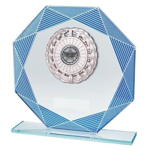 Any Sport Vortex Glass Plaques Achievement Trophies 3 sizes FREE Engraving