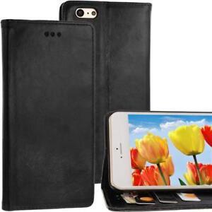 Style-Portefeuille-Coque-Pour-Apple-IPHONE-6-Plus-Noir-Compartiment-Fermoir-Neuf