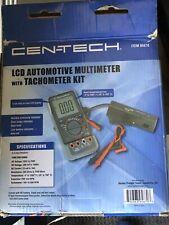 Cen Tech 95670 Lcd Automotive Multimeter With Tachometer Kit