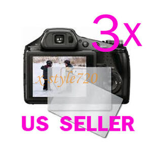 3x-Sony-CyberShot-DSC-HX100V-Clear-LCD-Screen-Protector-Guard-Cover-Film