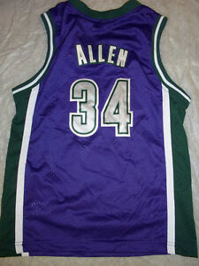 a0ba2c9087f RAY ALLEN  34 RETRO MILWAUKEE BUCKS NIKE YOUTH NBA SWINGMAN JERSEY ...
