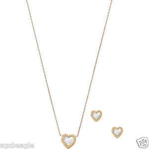 Michael-Kors-Jewelry-Set-MKJ5426710-GoldTone-Heart-Necklace-amp-Earring-COD-Paypal