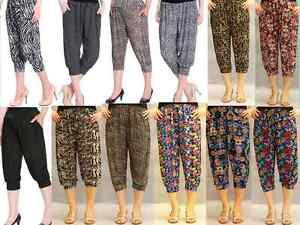 Pants-Women-039-s-Clothing-Yoga-Harem-Casual-Pants-3-4-Cropped-Comfy-Capris-BNWT8-gt-16
