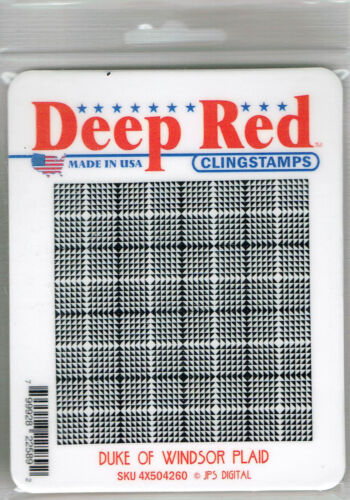Deep Red Stamps Duke of Windsor Plaid Rubber Cling Stamp