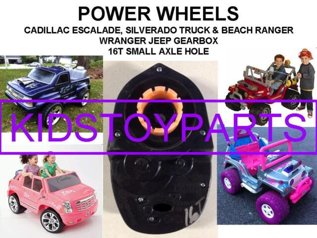 genuine power wheels 7r gearbox with 16 tooth motor 00968 2940 small axle for sale online ebay 1x 16t power wheels 7r gearbox escalade silverado 4x4 jeeps small axle type
