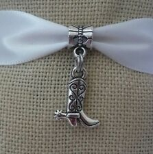 Horseshoe Cowboy Boot Lucky Western Dangle Charm for European Bead Bracelets Fashion Jewelry for Women Man