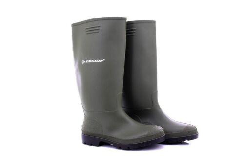 Dunlop Unisex PRICEMASTOR Quality Full Length Wellington Boots Green PVC