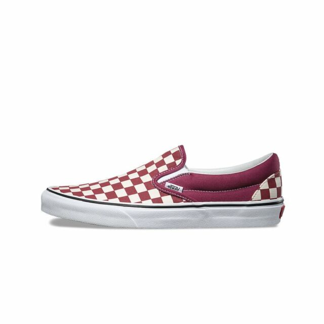 d036cf57e17 VANS Classic Slip on Checkerboard Dry Rose Men s Classic Skate Shoes Size 10
