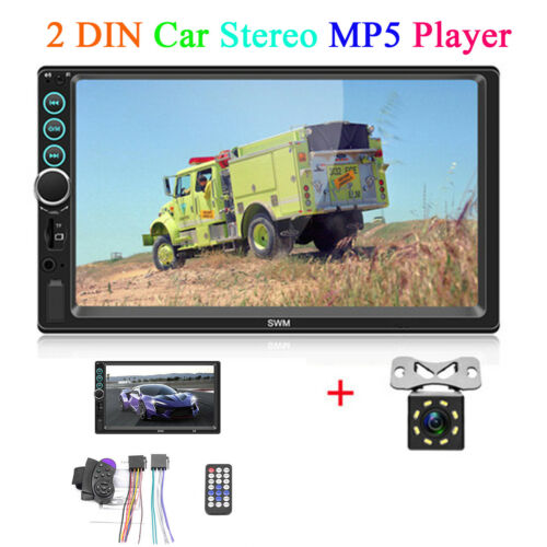 """7/"""" 2Din Car Stereo BT MP5 Player Radio Video Touch Screen FM//AUX//USB//TF Camera"""