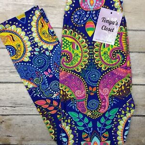 eec7c8a9f55ee Image is loading Kids-Girls-Toddler-Leggings-Brilliant-Paisley -Floral-Buttery-
