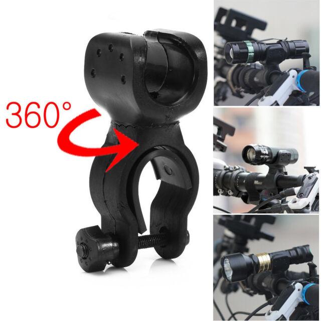 360°Rotation Torch Mount Clip Bike Bicycle Front Light Bracket Flashlight Holder
