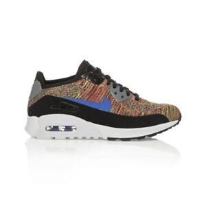 19aa6fef78cc0 Nike Air Max 90 Ultra 2.0 Flyknit Women s shoe - Black Medium Blue ...