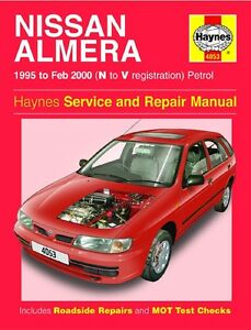 haynes owners workshop manual nissan pulsar petrol 95 00 service rh ebay com au nissan pulsar haynes manual nissan pulsar n15 repair manual