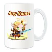 Personalised Gift Blood Elf Paladin Mug Money Box Cup World Warcraft WOW Game
