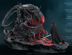 Unpainted-Alien-Queen-Resin-Kits-Model-Statue-GK-Unassembled-1-16-Scale-3D-Print