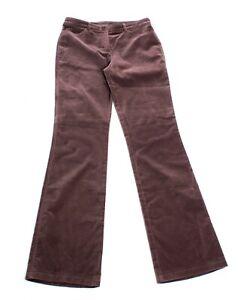 Womens-Escada-Brown-Velvet-Trouser-Pants-Size-36-US-6