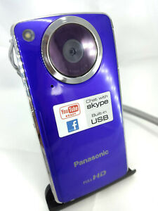 Panasonic HM-TA1 HD Digital Mobile Pocket Camera & Video Camcorder SD VIOLET