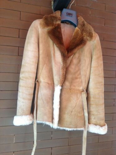 Fur Giacca Vera Pelliccia Pelle Leather E In Shearling Jachet And n7pfw