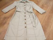 BODEN  COTTON  BUTTON THROUGH SHIRT  DRESS SIZE 16 LONG BNWOT (NO BELT)