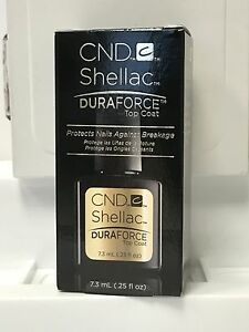 CND Shellac LED/UV - Duraforce Top Coat 7.3ml - BRAND NEW TOP COAT 2017