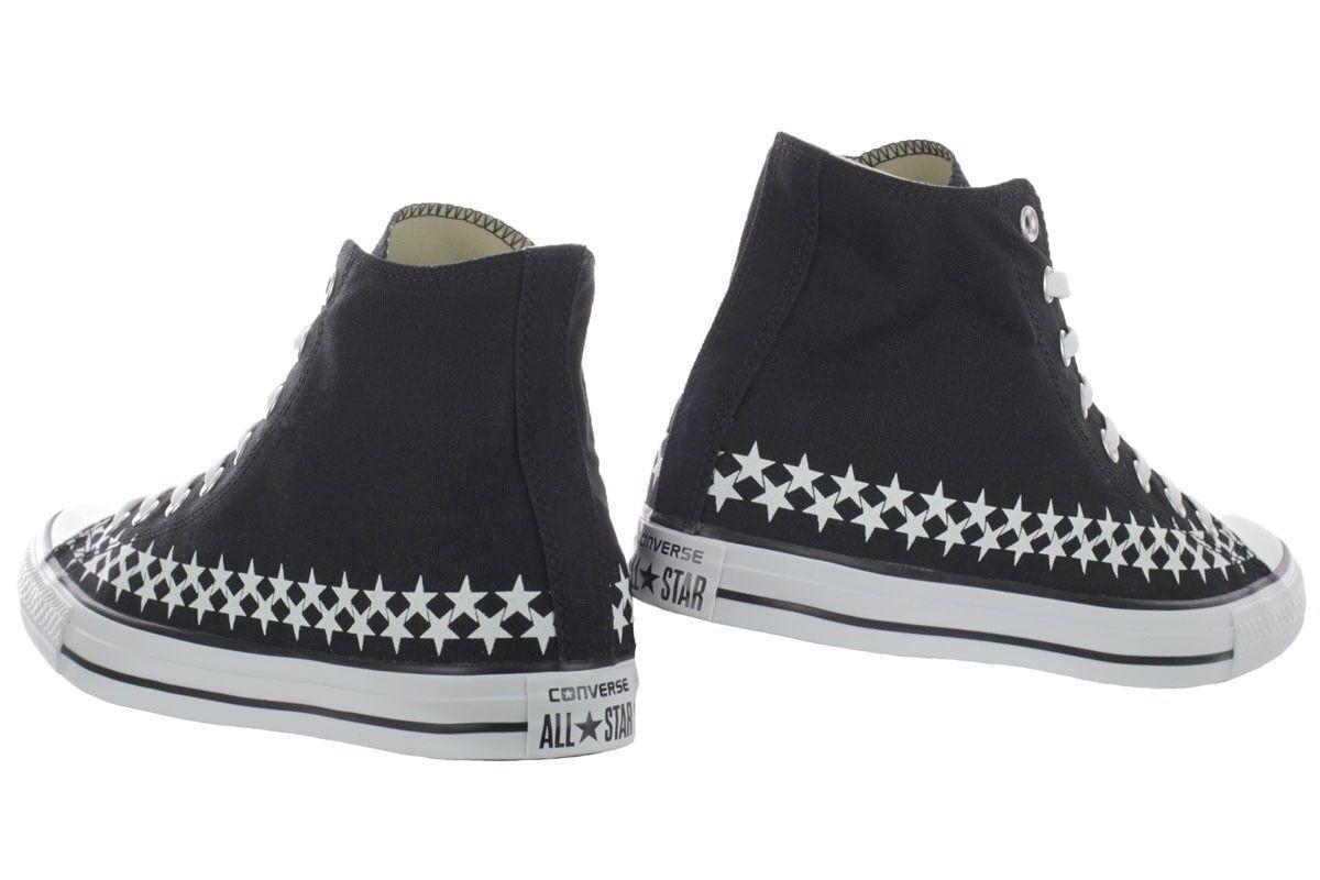 Converse MEN'S CHUCK TAYLOR ALL STAR HI Black White Canvas  151014F