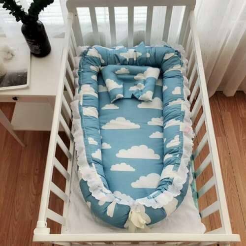Baby Pod Nest Newborn Reversible Cocoon Bed Newborn Bed Cushion Portable Bed