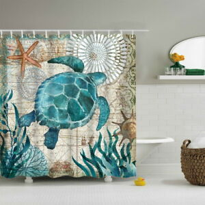 Image Is Loading Sea Turtle Shower Curtains Bathroom Curtain Ocean Theme
