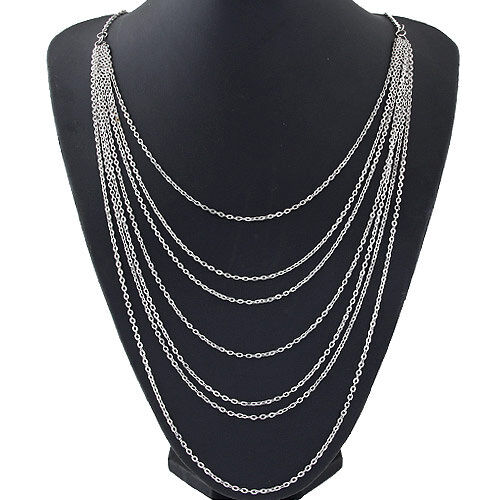 Charm Women Pendant Jewelry Chain Bib Statement Chunky Choker Necklace Collar