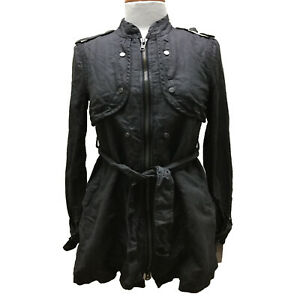 Really Black V By Ponte Military Jacket